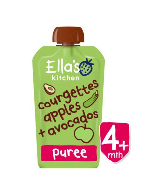 Courgette,Apple & Avocado Puree Vegan, ORGANIC