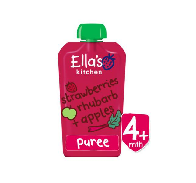 Strawberries,Rhubarb & Apple Puree Vegan, ORGANIC