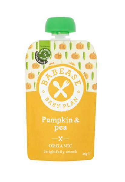 Puree Pumpkin & Peas Vegan, ORGANIC