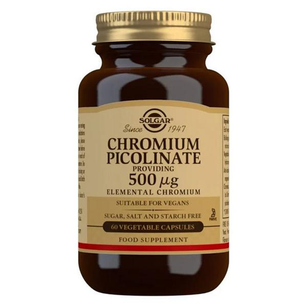 Chromium Picolinate Supplement 500mcg Gluten Free, Vegan