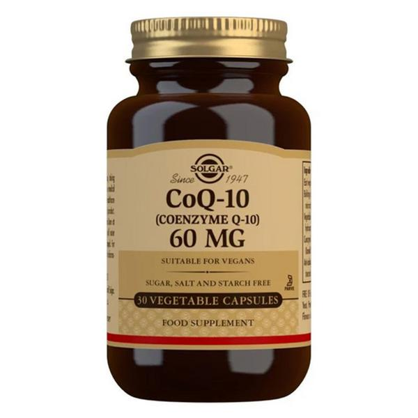 Coenzyme Q10 60mg dairy free, Gluten Free, Vegan