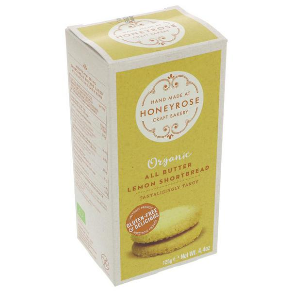 All Butter Lemon Shortbread ORGANIC