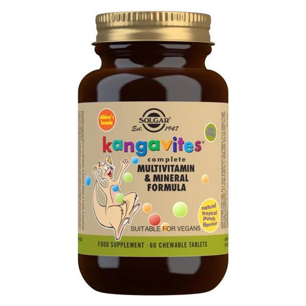 Kangavites Tropical Punch Multi Vitamins dairy free, Gluten Free, Vegan