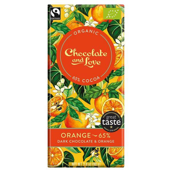 Orange 65% Dark Chocolate FairTrade, ORGANIC