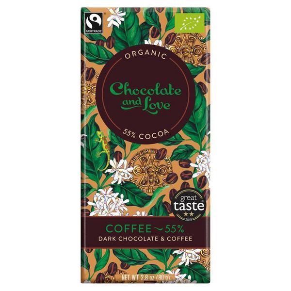 Coffee 55% Dark Chocolate FairTrade, ORGANIC