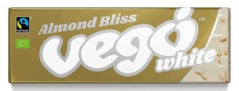 Almond Bliss White Chocolate Bar Vegan, FairTrade, ORGANIC