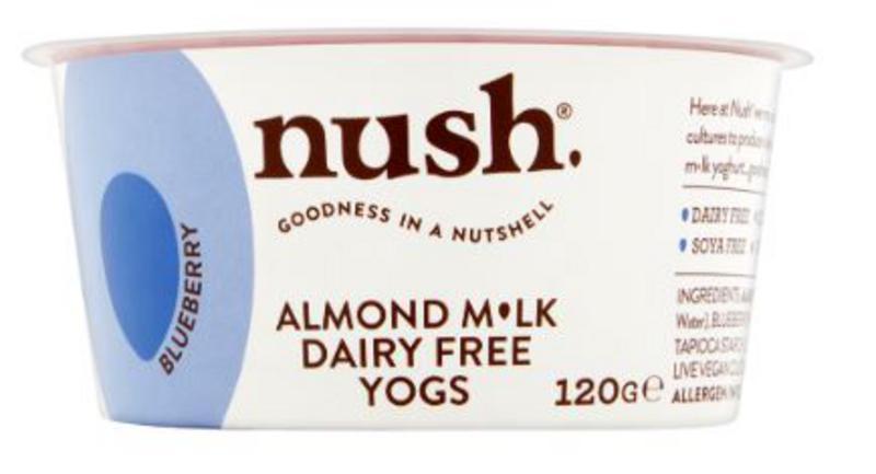 Blueberry Almond Milk Yoghurt dairy free, Vegan