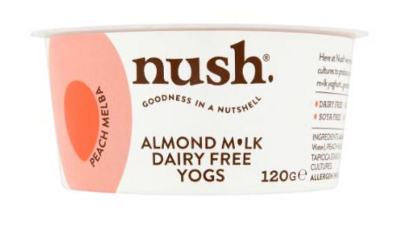 Peach Melba Almond Milk Yoghurt dairy free, Vegan