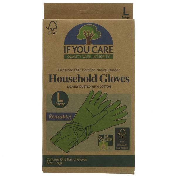 Large Latex Gloves Vegan, FairTrade