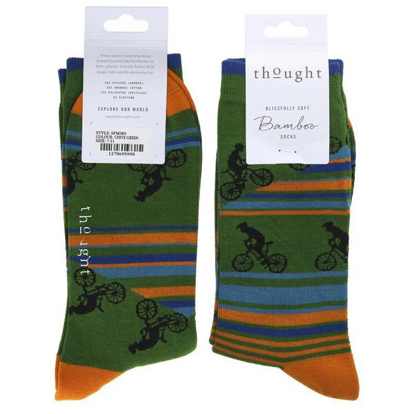 Green Bicycle Socks Size 7-11 Vegan