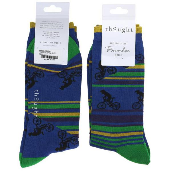 Royal Blue Bicycle Socks Size 7-11 Vegan