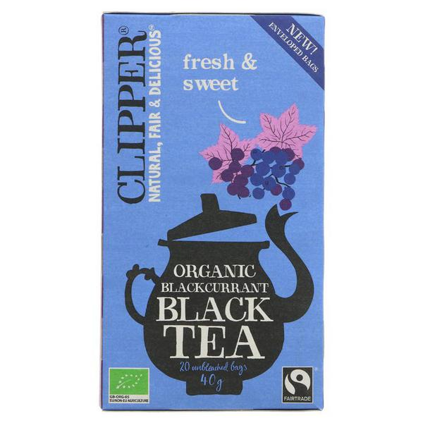 Blackcurrant Black Tea FairTrade, ORGANIC
