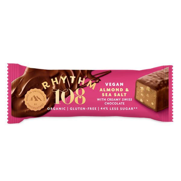 Salty Almond Swiss Mylk Chocolate Bar dairy free, Gluten Free, Vegan, ORGANIC