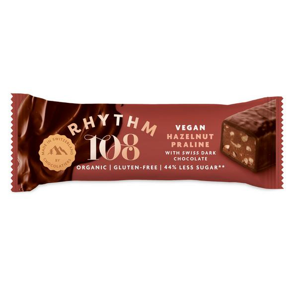 Hazelnut Praline Swiss Dark Chocolate Bar Vegan, ORGANIC