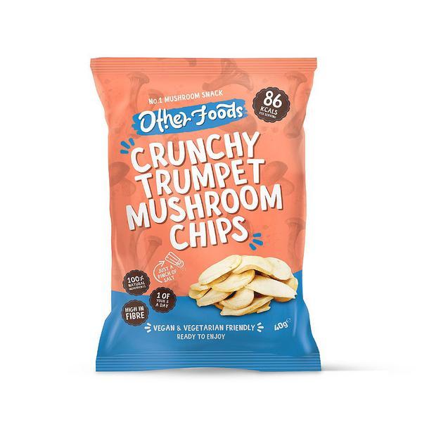 Crunchy Trumpet Mushroom Chips dairy free, Vegan
