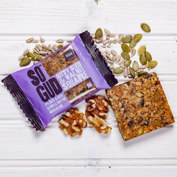 Seed & Walnut Squares Snackbar Gluten Free, Vegan