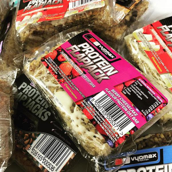 Berry & Cheesecake Protein Flapjack