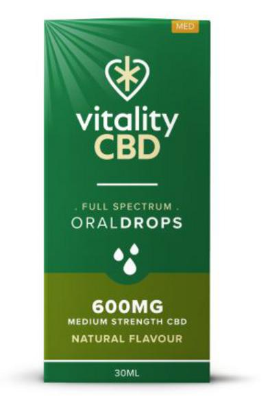 600mg Natural CBD Oral Drops Vegan