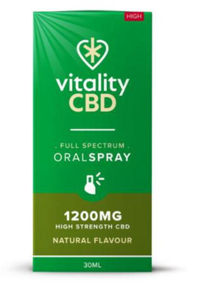 1200mg Natural CBD Oral Spray Vegan