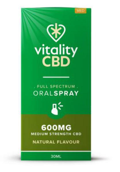 600mg Natural CBD Oral Spray