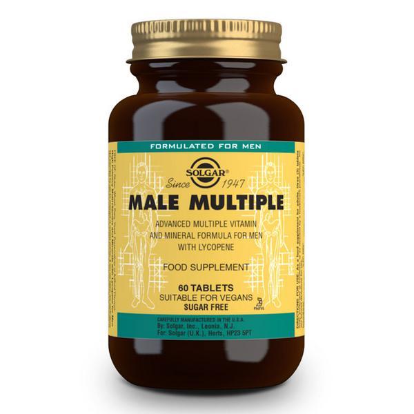 Male Multiple Multi Vitamins dairy free, Vegan
