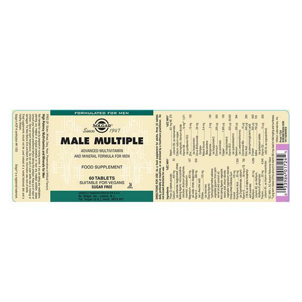 Male Multiple Multi Vitamins dairy free, Vegan image 2