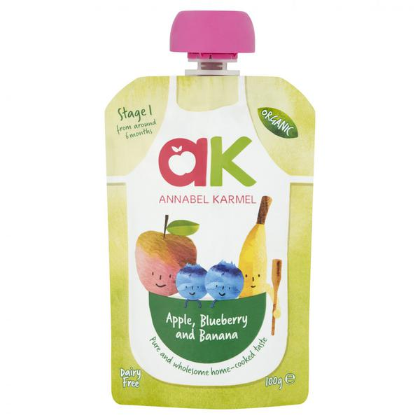 Apple,Blueberry & Banana Baby Food Puree ORGANIC