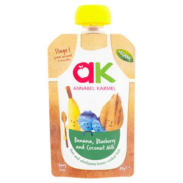 Banana,Blueberry & Coconut Baby Food Puree dairy free, Gluten Free, Vegan, ORGANIC