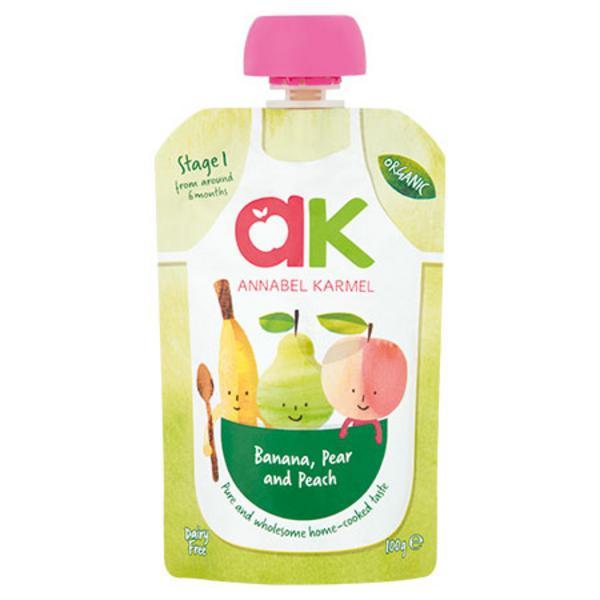 Banana,Pear & Peach Baby Food Puree dairy free, Gluten Free, Vegan, ORGANIC
