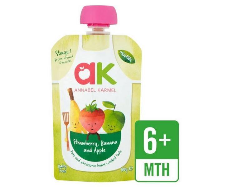Strawberrybanana Apple Puree Baby Food Dairy Free Gluten Free Vegan Organic