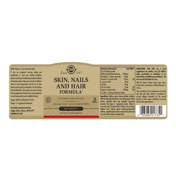Hair,Skin & Nails Supplement Vegan image 2