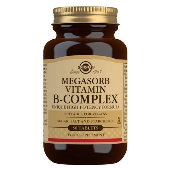 Complex Vitamin B Megasorb B Gluten Free, Vegan