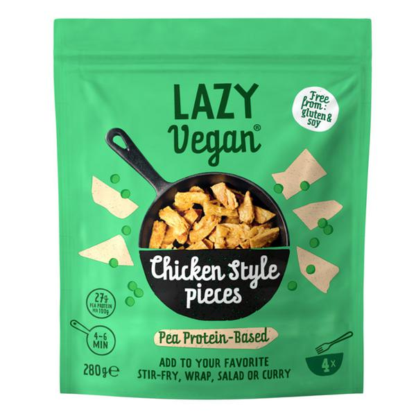Chunky Pulled Peas Meat Substitute dairy free, Vegan