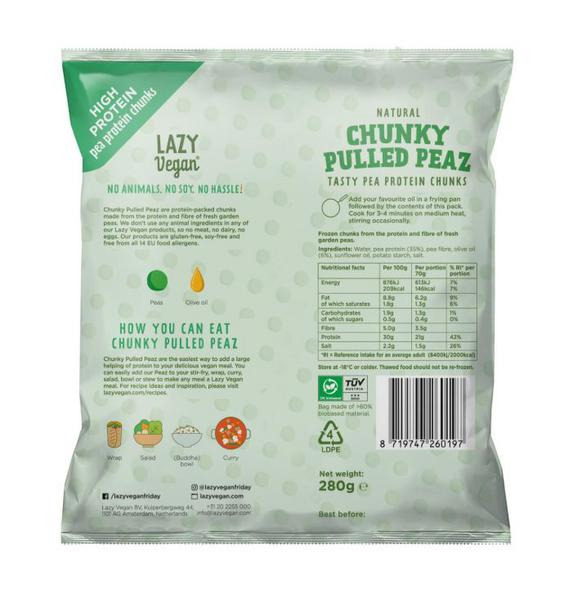 Chunky Pulled Peas Meat Substitute dairy free, Vegan image 2
