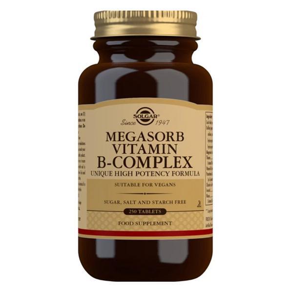 Vitamin B Complex Megasorb B Gluten Free, Vegan