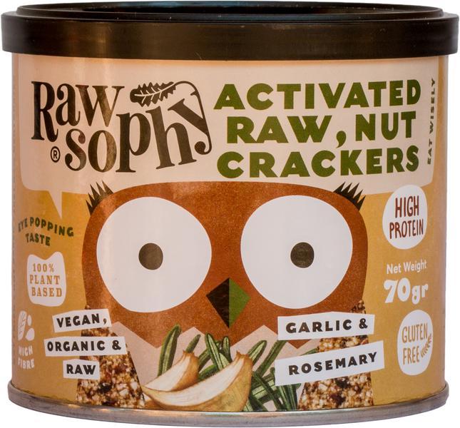 Garlic & Rosemary Activated Nut Crackers dairy free, Vegan, ORGANIC image 2