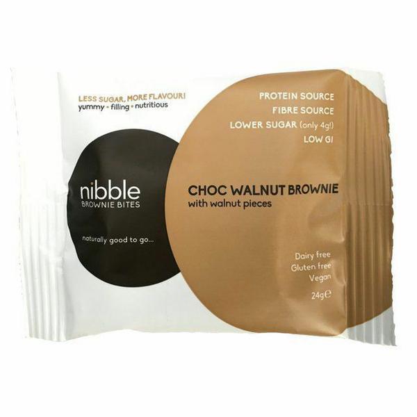 Chocolate & Walnut Brownie Bites Vegan
