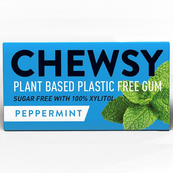 Peppermint Biodegradable Chewing Gum dairy free, Gluten Free, sugar free, Vegan