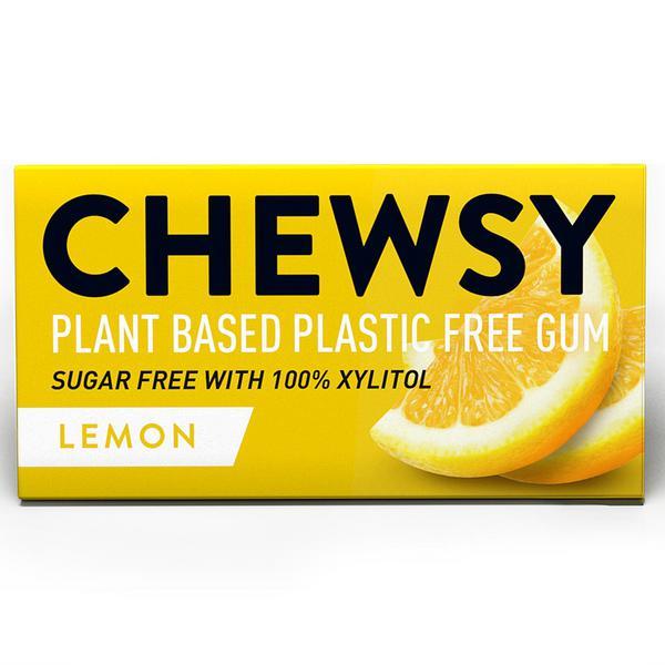 Lemon Biodegradable Chewing Gum dairy free, Gluten Free, sugar free, Vegan