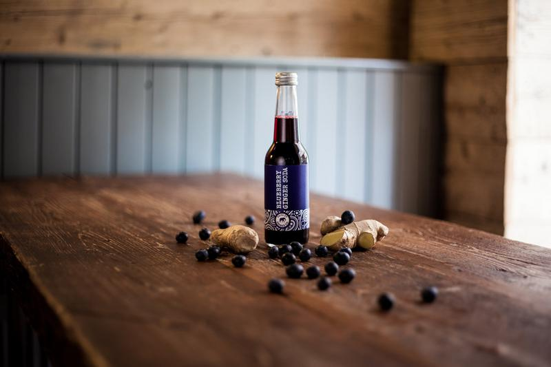 Blueberry & Ginger Soda Drink