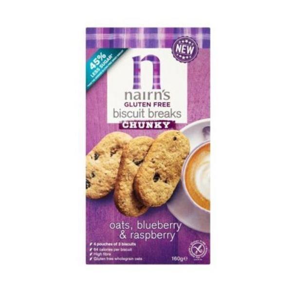 Chunky Blueberry & Raspberry Biscuit Breaks Gluten Free