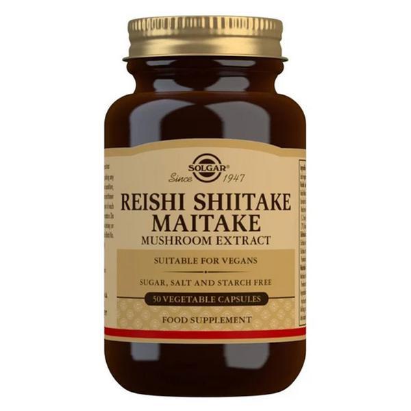 Reishi,Shiitake & Maitake Mushroom Extract Gluten Free, Vegan