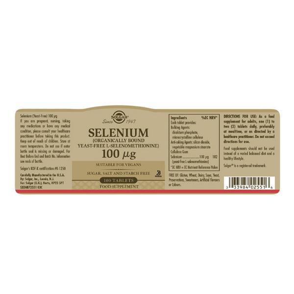 Selenium Mineral 100ug yeast free image 2