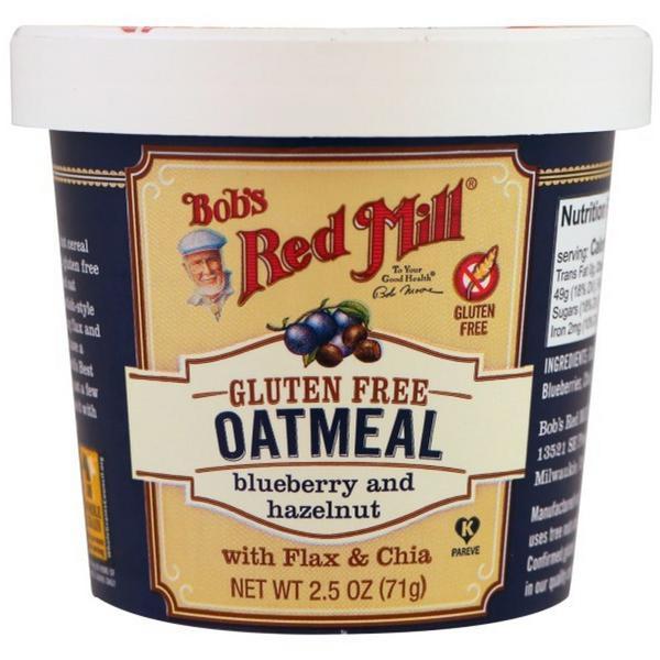 Gluten Free Blueberry & Hazelnut Oatmeal Cup