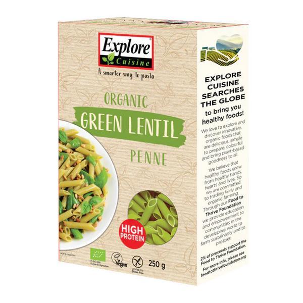 Organic Green Lentil Pasta Gluten Free, wheat free