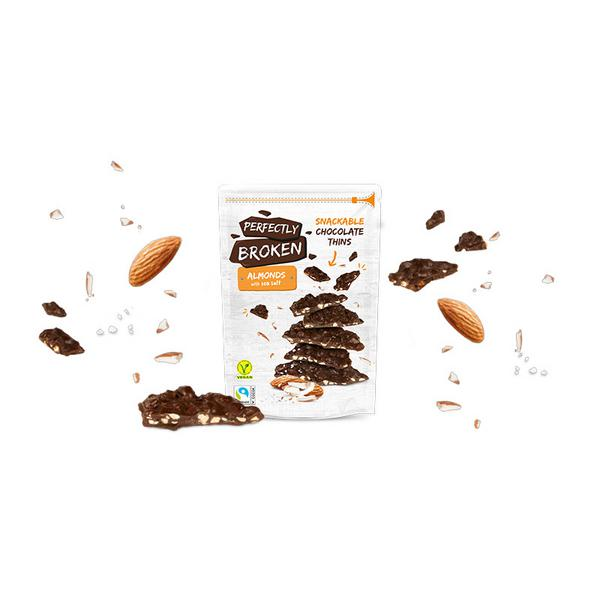 Almond Chocolate Thins Vegan, FairTrade