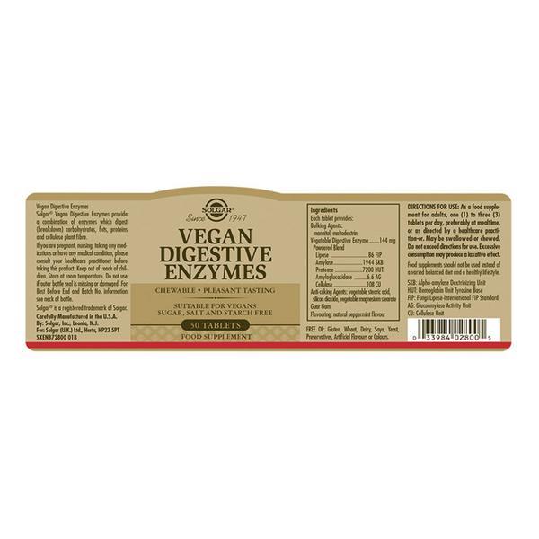 Chewable Digestive Enzyme Digestive Aid Vegan image 2