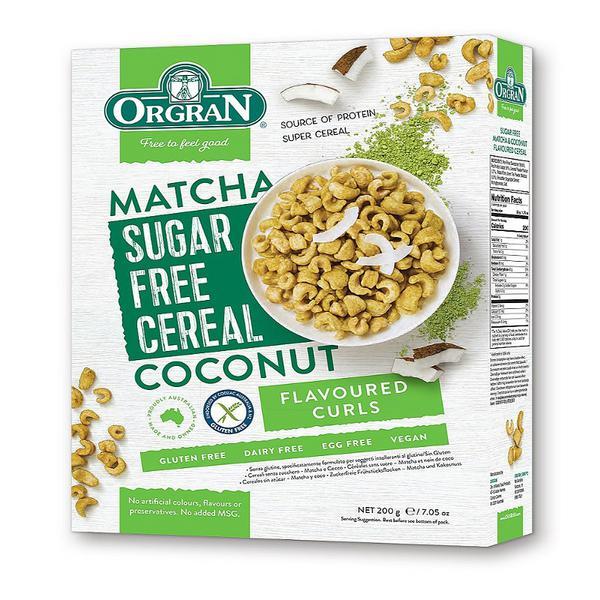 Sugar Free Matcha & Coconut Cereal Gluten Free, wheat free