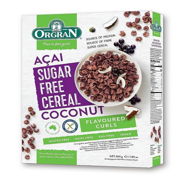 Sugar Free Acai & Coconut Cereal egg free, Gluten Free, Vegan