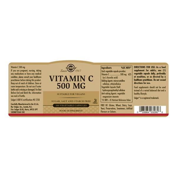 Vitamin C 500mg Vegan image 2